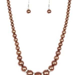 Brown Pearl's with free matching earrings